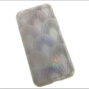 iPhone 7 Glam Case Clear Holographic Boho Print
